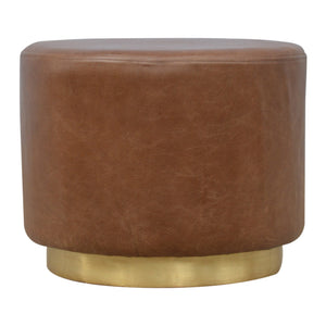 Iiona Stool comes in brown and a gold finish with a french style and is available from roomshaped.co.uk