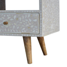 Load image into Gallery viewer, Ivan Media Unit comes in grey with a deco style and is available from roomshaped.co.uk