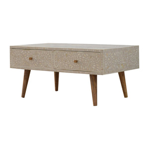 Ludmila Coffee Table comes in grey with a deco style and is available from roomshaped.co.uk