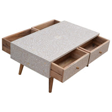 Load image into Gallery viewer, Ludmila Coffee Table comes in grey with a deco style and is available from roomshaped.co.uk