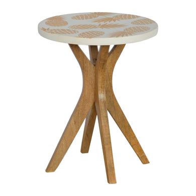 Daniel Side Table comes in white with a painted style and is available from roomshaped.co.uk