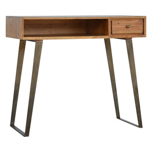 Jaak Desk has a metallic style and is available from roomshaped.co.uk