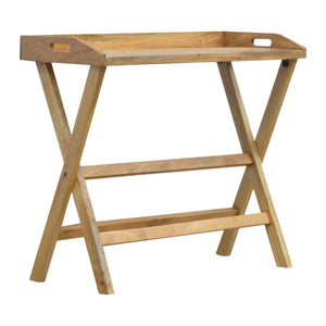 Barnim Writing Desk comes in an oak finish with a country style and is available from roomshaped.co.uk