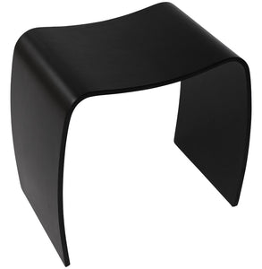Mitch Stool comes in black and white with a modern style and is available from roomshaped.co.uk