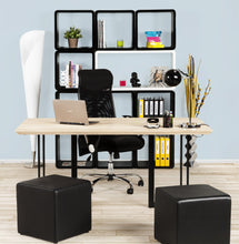 Load image into Gallery viewer, Rubik Stool comes in black and grey and red and white with a modern style and is available from roomshaped.co.uk