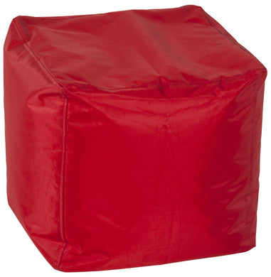 Funky Beanbag comes in red with a modern style and is available from roomshaped.co.uk