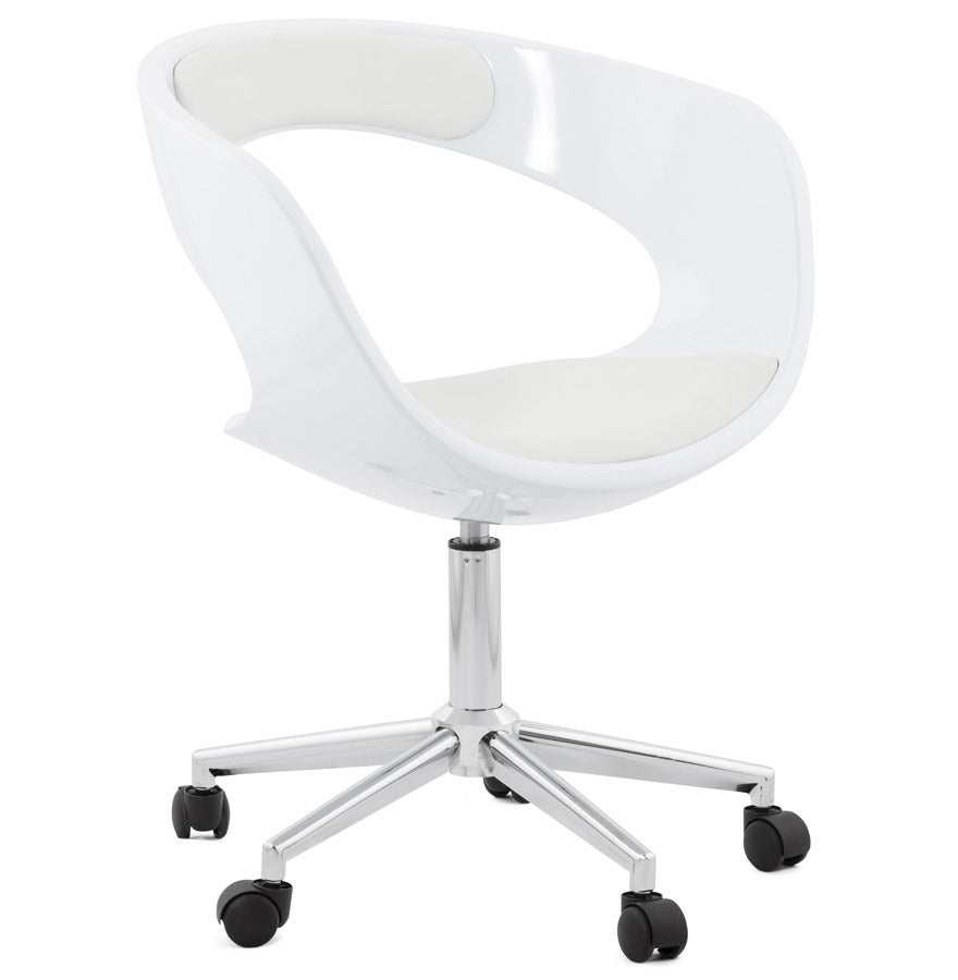 Felix Office Chair comes in black and white with a modern style and is available from roomshaped.co.uk