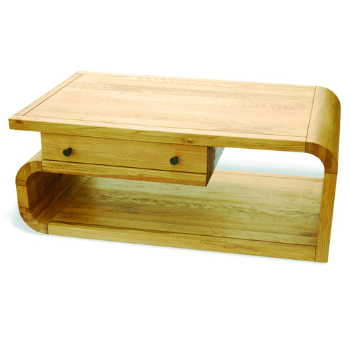 Aldo Coffee Table with Drawer comes in a natural finish with a city style and is available from roomshaped.co.uk