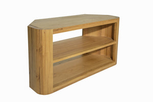 Aldo Corner TV Cabinet comes in a natural finish with a city style and is available from roomshaped.co.uk
