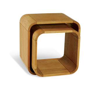 Aldo Cube Pair comes in a natural finish with a city style and is available from roomshaped.co.uk