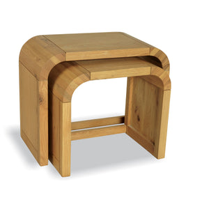 Aldo Nest of 2 Tables comes in a natural finish with a city style and is available from roomshaped.co.uk