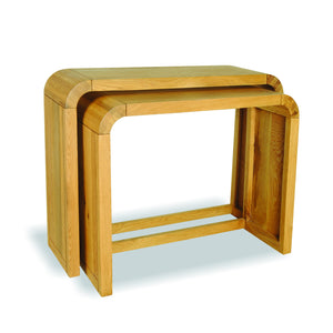 Aldo Small Console Pair comes in a natural finish with a city style and is available from roomshaped.co.uk