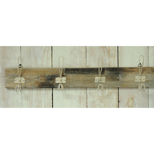 Andri 4 White Coat Hooks comes in a natural finish with a new industrial style and is available from roomshaped.co.uk
