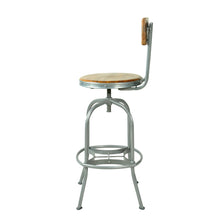 Load image into Gallery viewer, Andri Bar Stool comes in a natural finish with a new industrial style and is available from roomshaped.co.uk