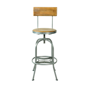 Andri Bar Stool comes in a natural finish with a new industrial style and is available from roomshaped.co.uk
