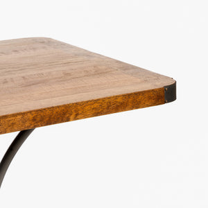 Andri Cafe Table 70cm comes in a natural finish with a new industrial style and is available from roomshaped.co.uk