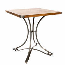 Load image into Gallery viewer, Andri Cafe Table 70cm comes in a natural finish with a new industrial style and is available from roomshaped.co.uk