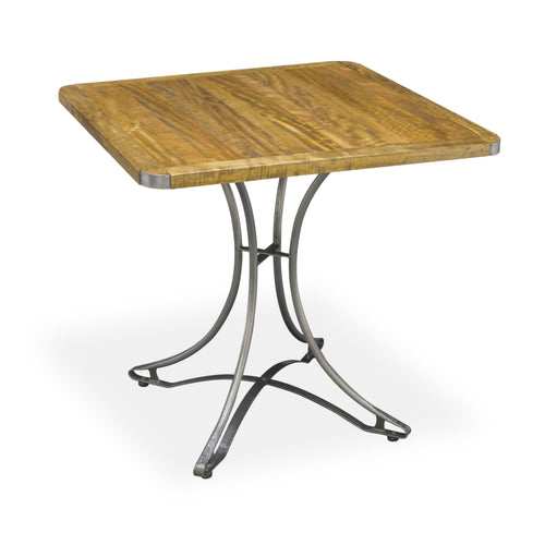 Andri Cafe Table 80cm comes in a natural finish with a new industrial style and is available from roomshaped.co.uk