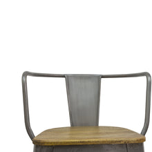 Load image into Gallery viewer, Andri Chair comes in grey and a natural finish with a new industrial style and is available from roomshaped.co.uk