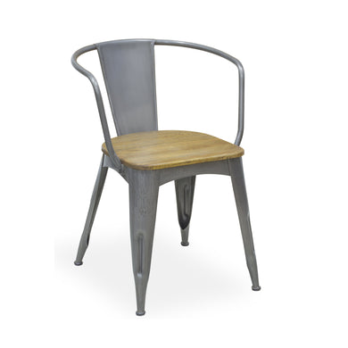 Andri Chair comes in grey and a natural finish with a new industrial style and is available from roomshaped.co.uk