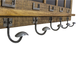 Andri Coat Hooks comes in a natural finish with a new industrial style and is available from roomshaped.co.uk