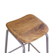 Load image into Gallery viewer, Andri High Stool comes in a natural finish with a new industrial style and is available from roomshaped.co.uk