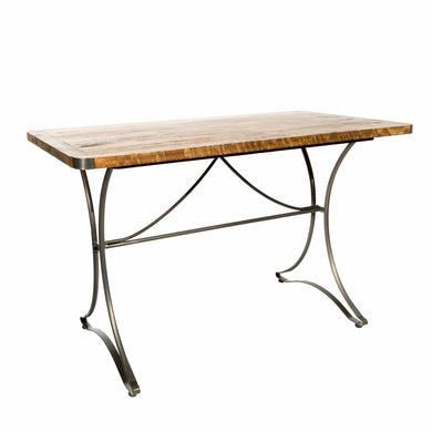 Andri Rectangular Table 120cm comes in a natural finish with a new industrial style and is available from roomshaped.co.uk