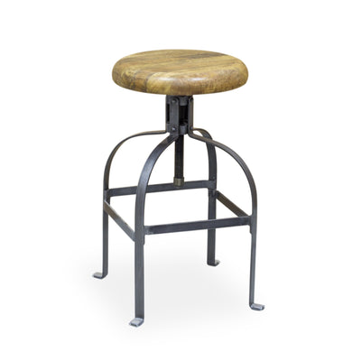 Andri Stool comes in a natural finish with a new industrial style and is available from roomshaped.co.uk