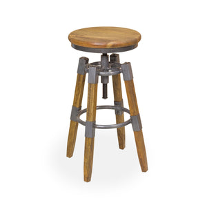 Andri Swivel Stool comes in a natural finish with a new industrial style and is available from roomshaped.co.uk