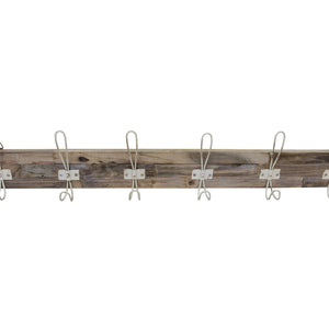 Andri White Coat Hooks 6 comes in a natural finish with a new industrial style and is available from roomshaped.co.uk