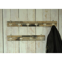 Load image into Gallery viewer, Andri White Coat Hooks 6 comes in a natural finish with a new industrial style and is available from roomshaped.co.uk