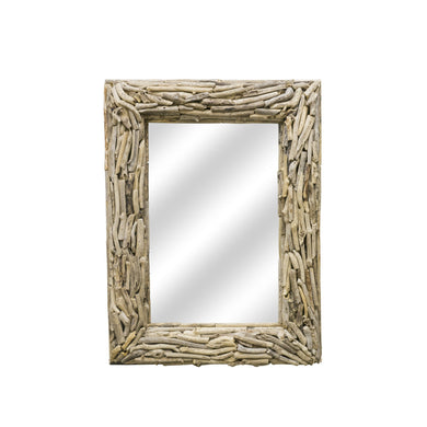 Beam Flat Mirror comes in a natural finish with a recycled style and is available from roomshaped.co.uk