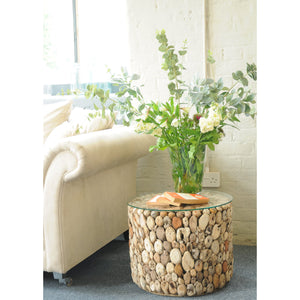 Beam Lamp Table comes in a natural finish with a recycled style and is available from roomshaped.co.uk