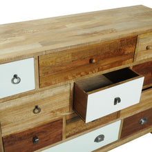 Load image into Gallery viewer, Bella 12 Drawer Chest comes in a multi-colour finish with a country style and is available from roomshaped.co.uk