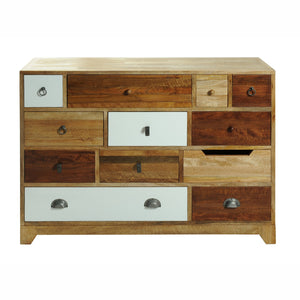Bella 12 Drawer Chest comes in a multi-colour finish with a country style and is available from roomshaped.co.uk