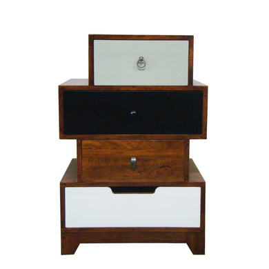 Bella 4 Drawer Chest comes in a multi-colour finish with a country style and is available from roomshaped.co.uk