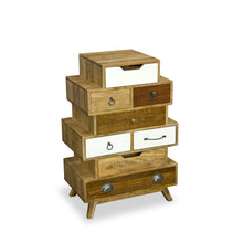 Load image into Gallery viewer, Bella Interesting 8 Drawer Chest comes in a multi-colour finish with a country style and is available from roomshaped.co.uk