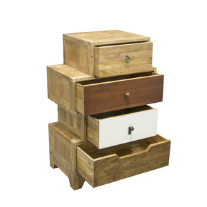 Bella MixedUp 4 Drawer Chest comes in a multi-colour finish with a country style and is available from roomshaped.co.uk