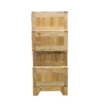 Load image into Gallery viewer, Bella MixedUp 4 Drawer Chest comes in a multi-colour finish with a country style and is available from roomshaped.co.uk
