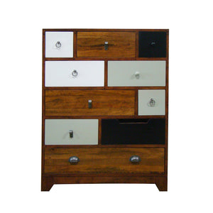 Bella Tall Chest Multi comes in a multi-colour finish with a country style and is available from roomshaped.co.uk