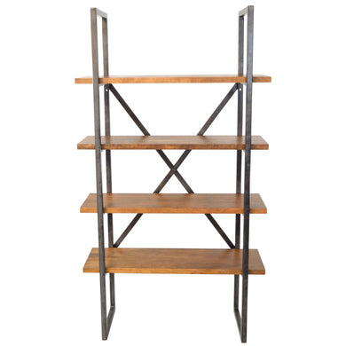 Dimas Bookcase comes in an oak finish with a new industrial style and is available from roomshaped.co.uk