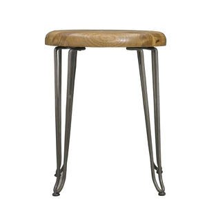 Boyan Stool comes in a natural finish with a new industrial style and is available from roomshaped.co.uk