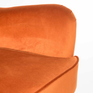 Bridgit Armchair comes in blue and grey and orange with a retro classic style and is available from roomshaped.co.uk