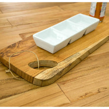 Load image into Gallery viewer, Cam Serving Board comes in a natural finish with a city style and is available from roomshaped.co.uk