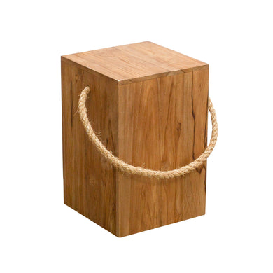 Chai Box Stool comes in a natural finish with a java style and is available from roomshaped.co.uk