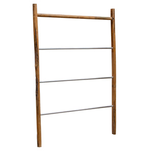 Chai Display Ladder comes in brown and a natural finish with a java style and is available from roomshaped.co.uk