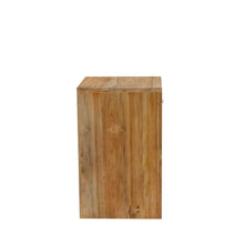 Load image into Gallery viewer, Chai Side Table comes in a natural finish with a java style and is available from roomshaped.co.uk