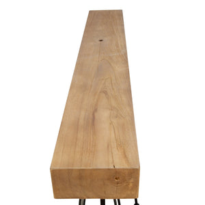 Chai Slim Drinks Table comes in a natural finish with a java style and is available from roomshaped.co.uk