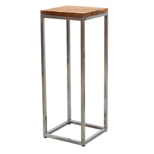 Chai Steel Plant Stand comes in a natural finish and silver with a java style and is available from roomshaped.co.uk