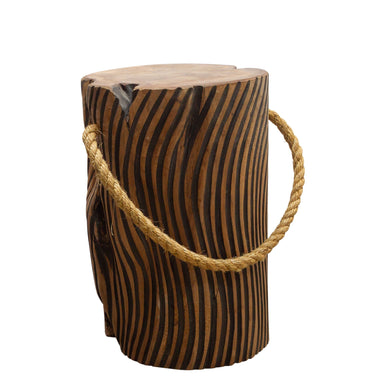 Chai Stripe Stool comes in black and a natural finish with a java style and is available from roomshaped.co.uk